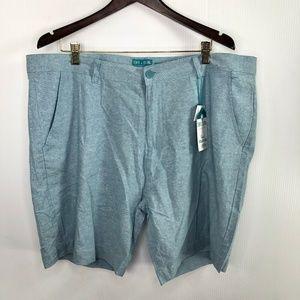 Tenth + Ocean Washable Linen Shorts Blue Men's 42